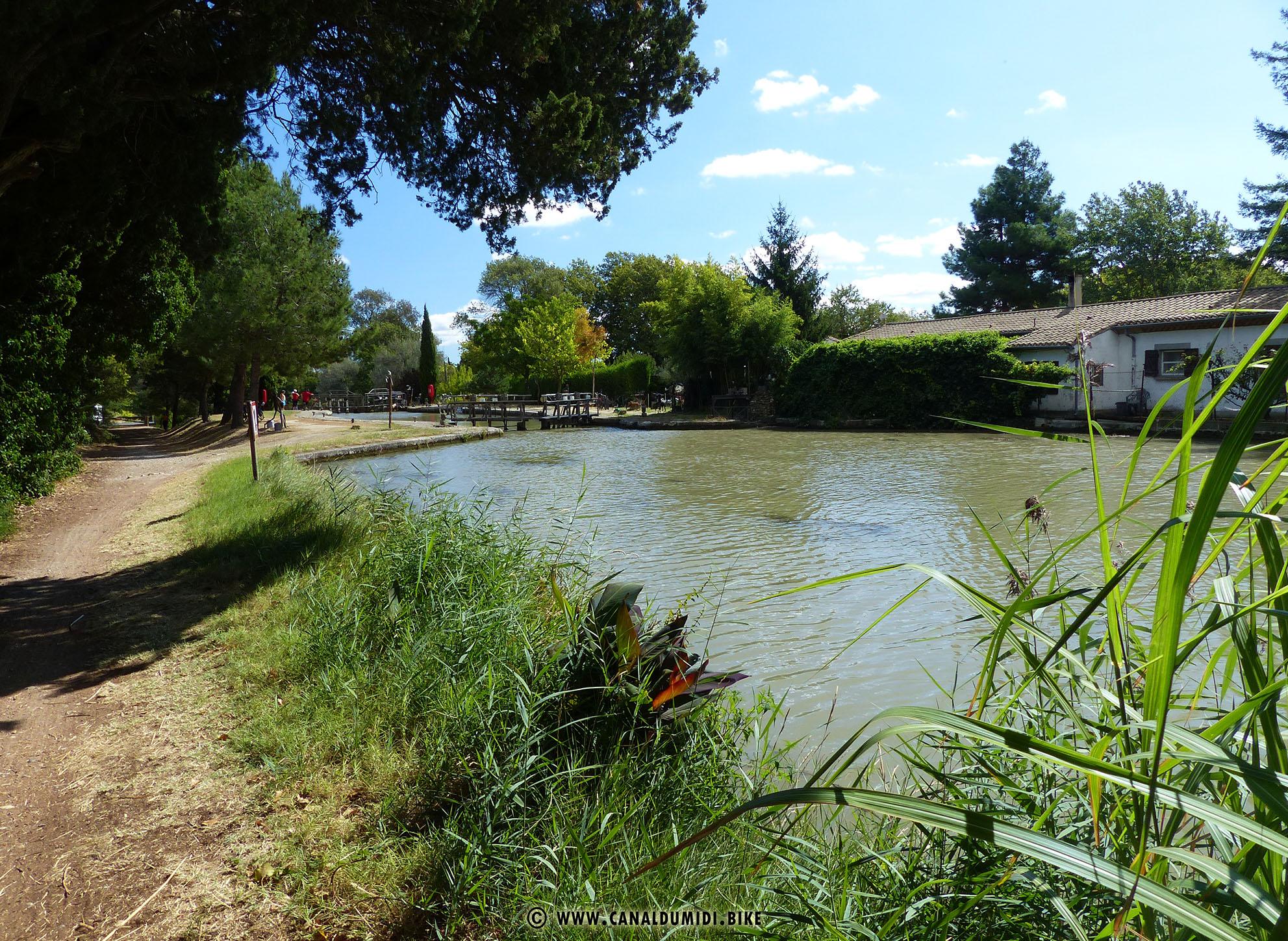Canal Du Midi Bike Ecluse De L Aiguille Lock Canal Du