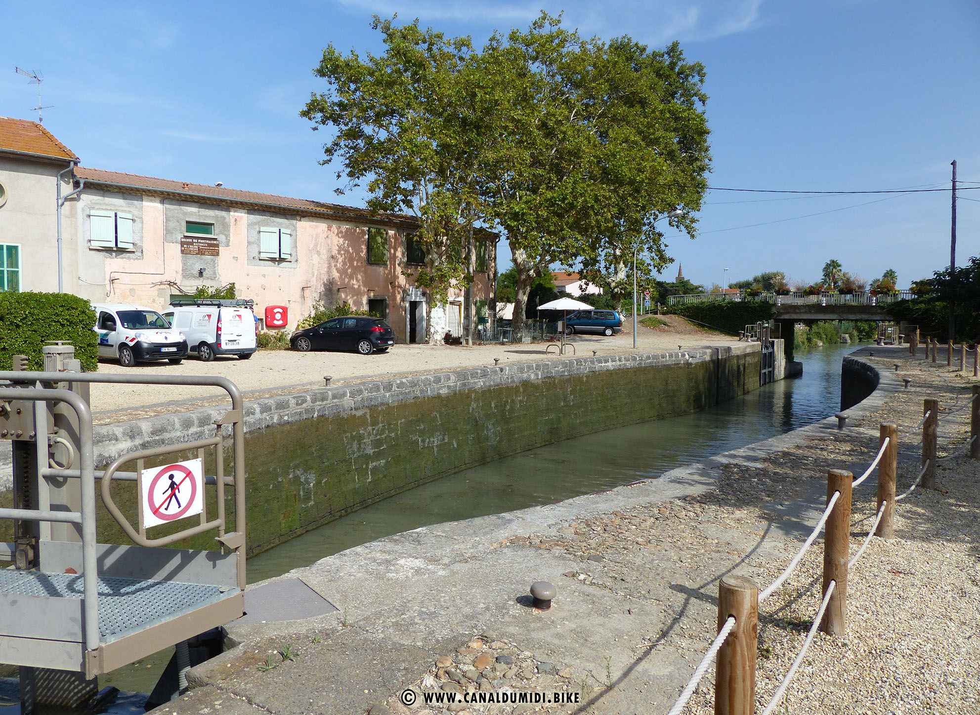 Canal Du Midi Bike Ecluse De Portiragnes Lock Canal Du