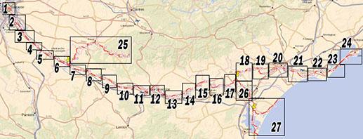 canal du midi en vélo carte Canal Du Midi Bike | Download Map Itineraire Parcours Velo Carte IGN